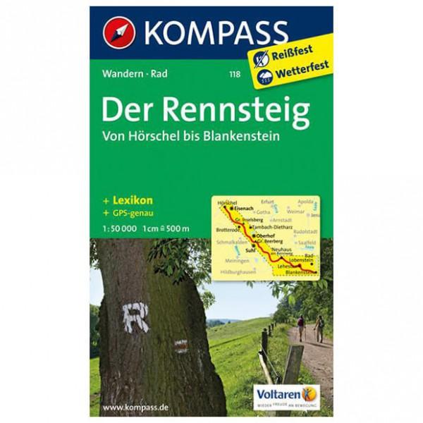 Kompass - Der Rennsteig - Wanderkarte