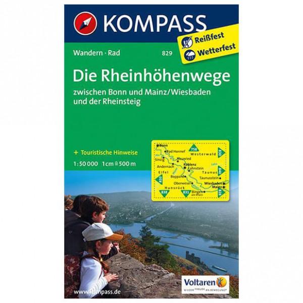 Kompass - Rheinhöhenwege zwischen Bonn und Mainz, Rheinsteig - Hiking map