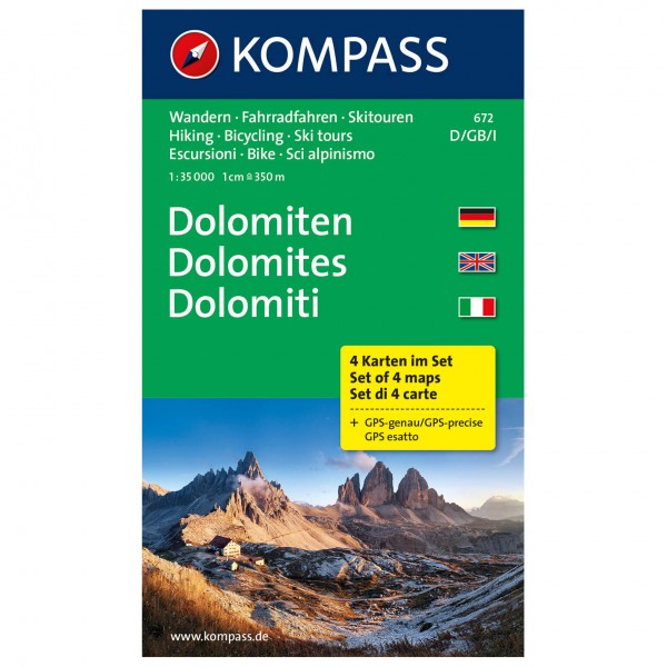 Kompass - Dolomiten - Cartes de randonnée