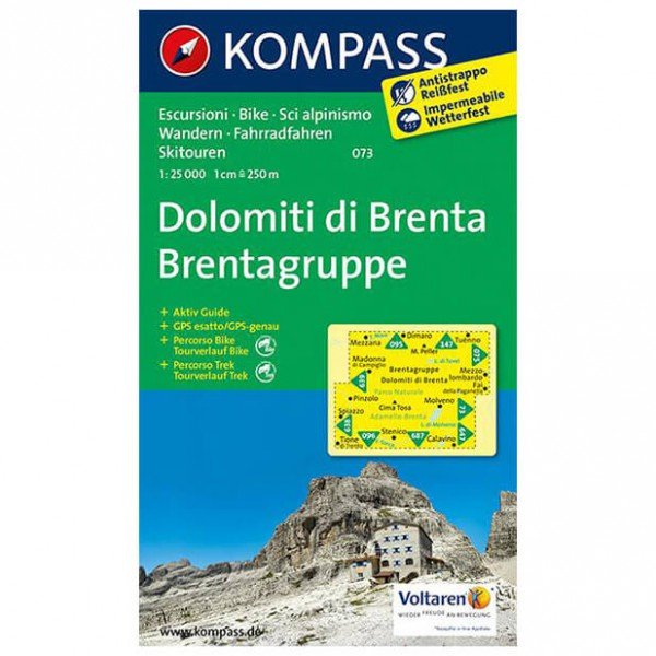 Kompass - Dolomiti di Brenta - Brentagruppe - Carte de randonnée