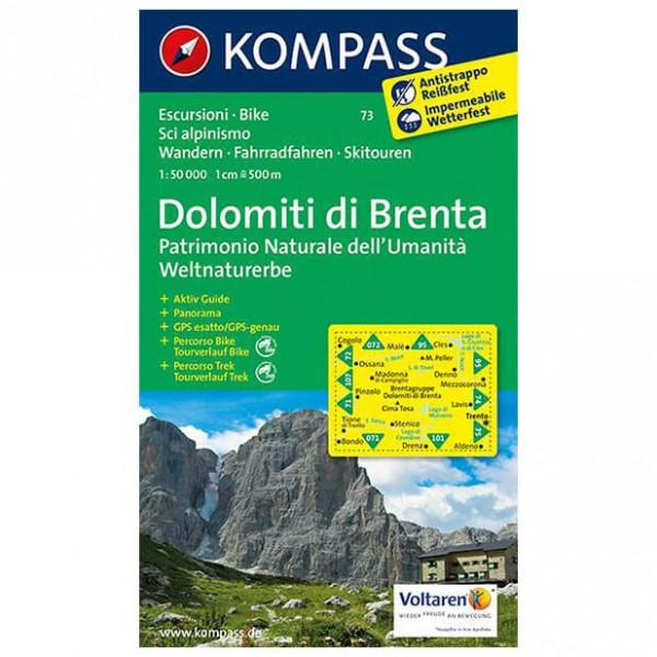 Kompass - Dolomiti di Brenta - Weltnaturerbe - Wanderkarte