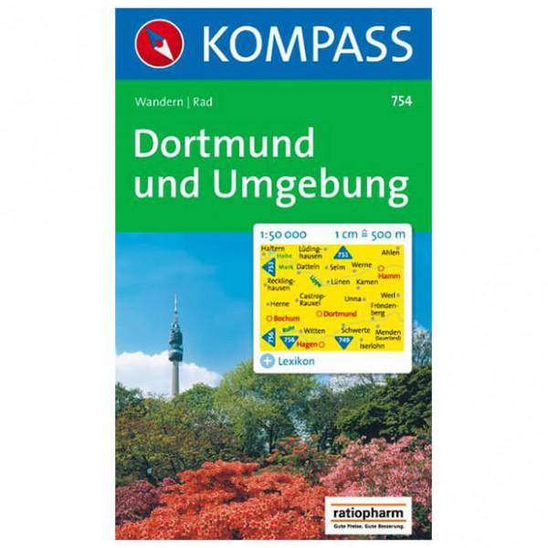 Kompass - Dortmund und Umgebung - Vandrekort
