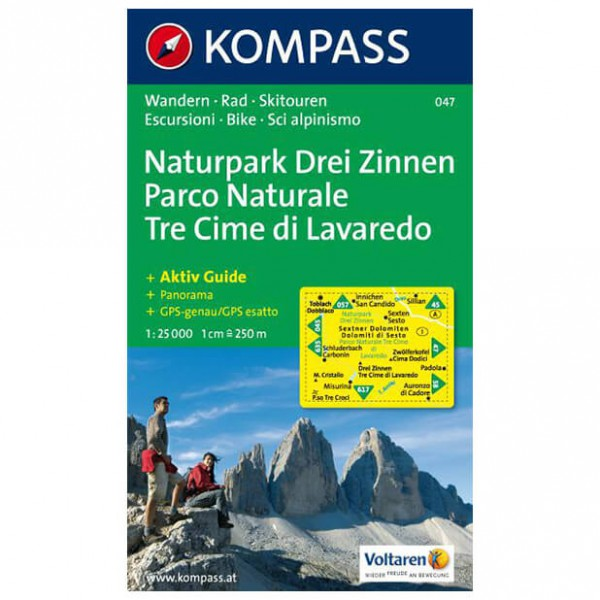 Kompass - Drei Zinnen /Tre Cime di Lavaredo - Hiking map