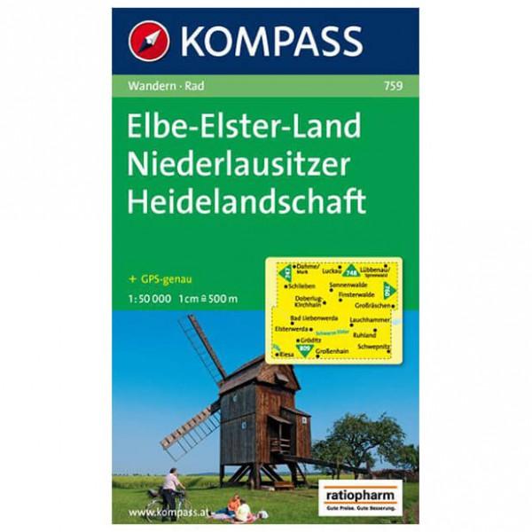 Kompass - Elbe-Elster-Land - Vandrekort
