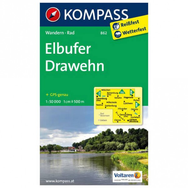 Kompass - Elbufer - Hiking Maps