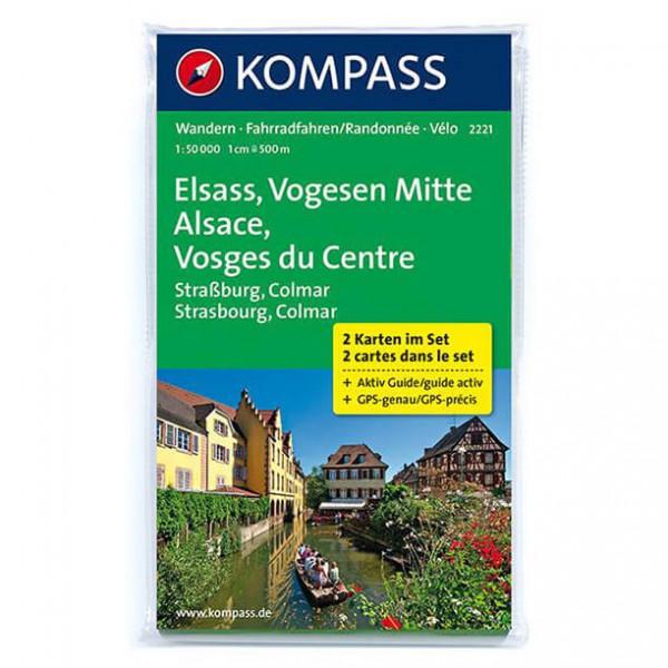 Kompass - Elsass - Vogesen Mitte - Wandelkaarten