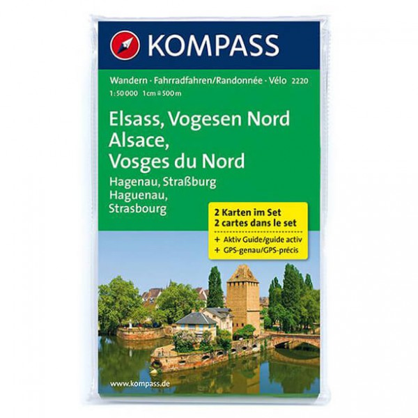 Kompass - Elsass - Vogesen Nord - Alsace - Wanderkarte