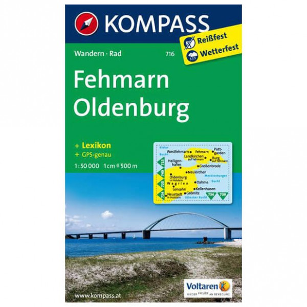 Kompass - Fehmarn - Wandelkaarten