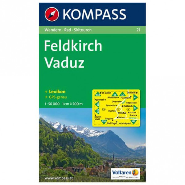 Kompass - Feldkirch - Wanderkarte