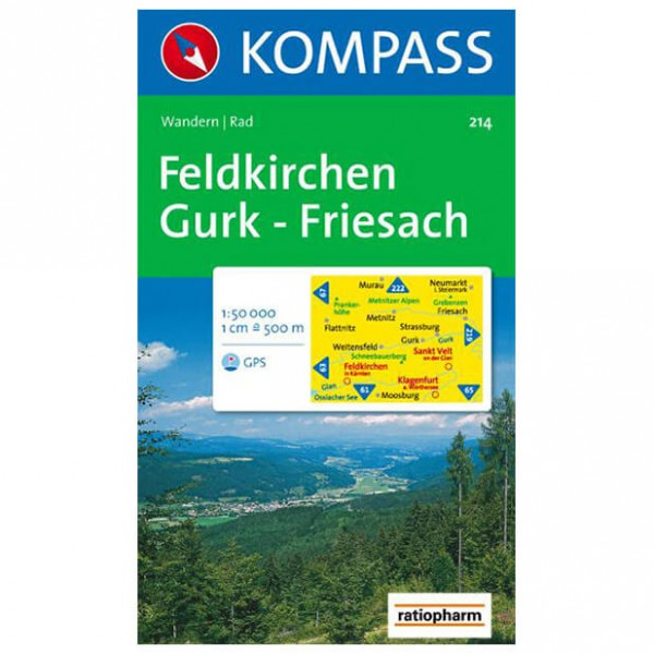 Kompass - Feldkirchen - Wandelkaarten