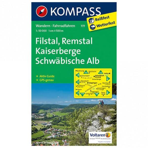 Kompass - Filstal, Remstal, Kaiserberge, Schwäbische Alb - Vandringskartor