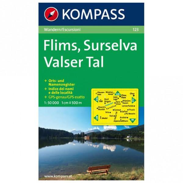 Kompass - Flims - Wandelkaarten
