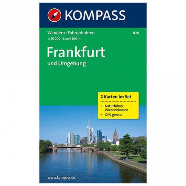 Kompass - Frankfurt und Umgebung - Wandelkaarten