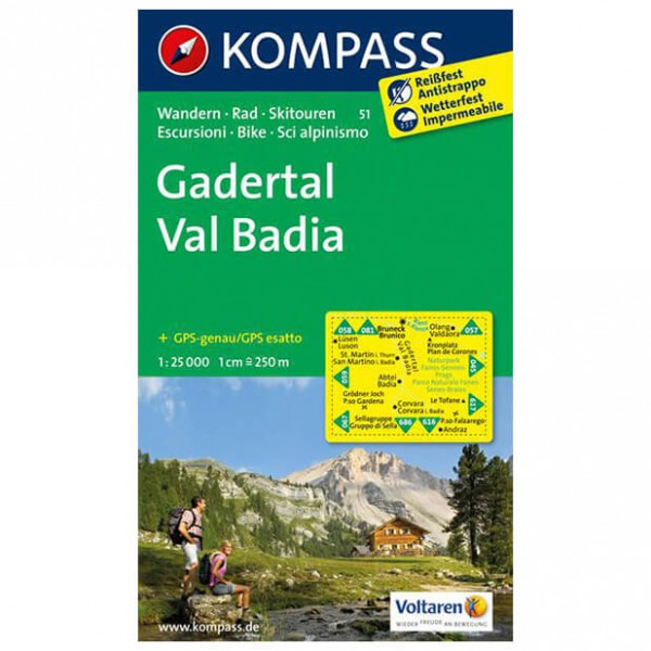 Kompass - Gadertal - Hiking Maps