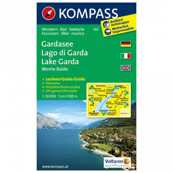 Kompass - Gardasee /Lago di Garda /Lake Garda /Monte Baldo - Vaelluskartat