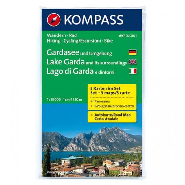 Kompass - Gardasee und Umgebung - Wandelkaarten