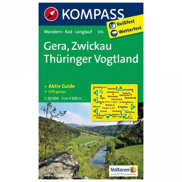 Kompass - Gera - Carte de randonnée