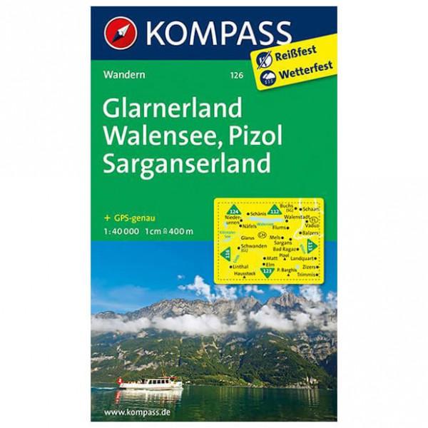 Kompass - Glarnerland - Mapa de senderos