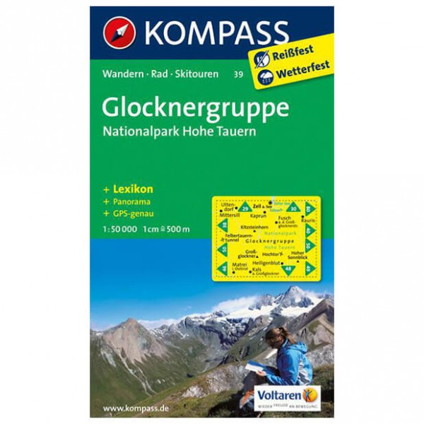 Kompass - Glocknergruppe - Wandelkaart