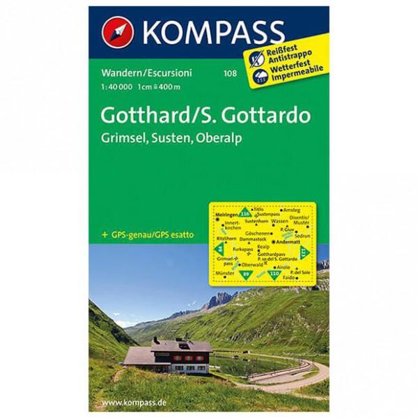 Kompass - Gotthard/S. Gottardo - Hiking map