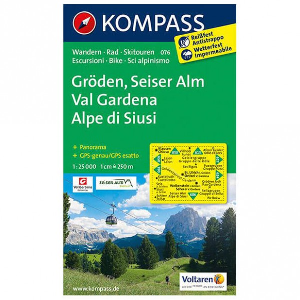 Kompass - Gröden - Hiking map