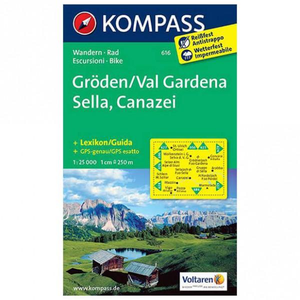 Kompass - Gröden /Val Gardena /Sella /Canazei - Hiking map