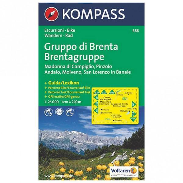 Kompass - Gruppo di Brenta - Cartes de randonnée