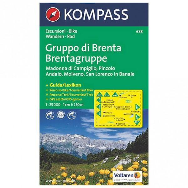 Kompass - Gruppo di Brenta - Wanderkarte