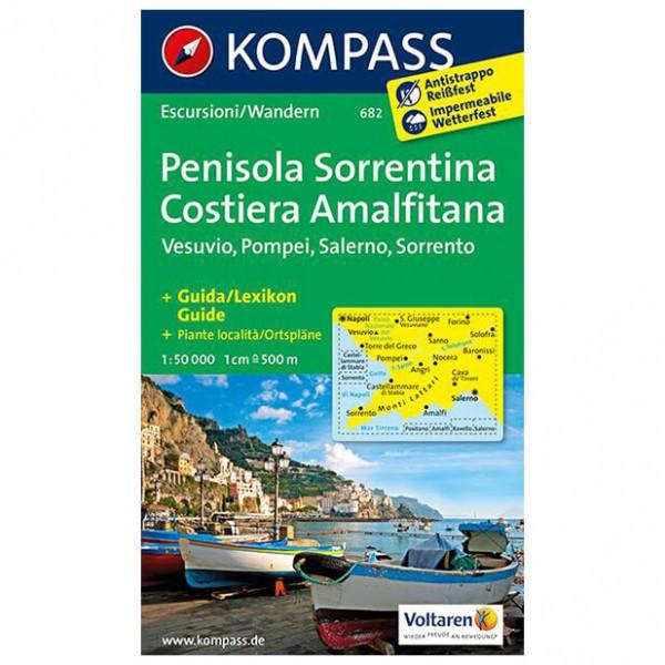 Kompass - Halbinsel Sorrent /Penisola Sorrentina - Vandrekort