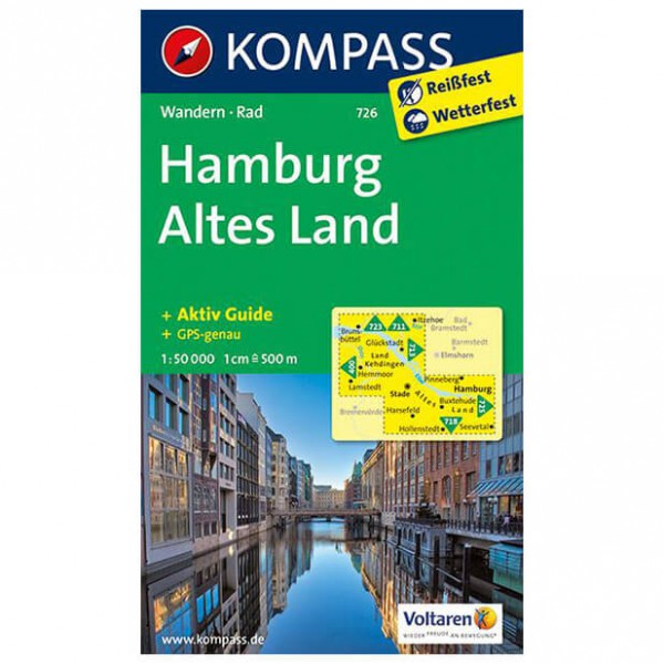 Kompass - Hamburg - Vandrekort