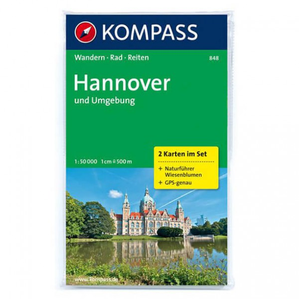 Kompass - Hannover und Umgebung - Wandelkaarten