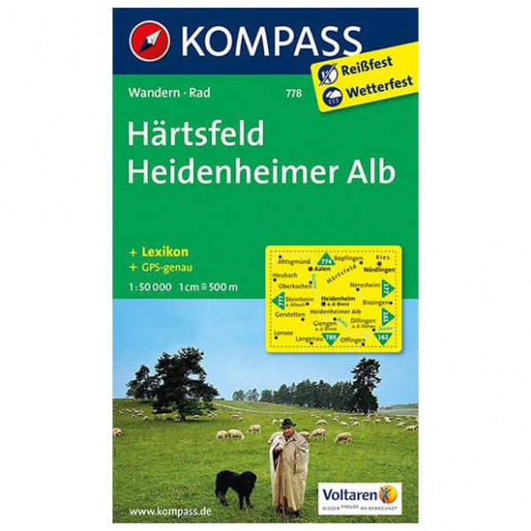 Kompass - Härtsfeld - Wandelkaarten