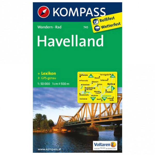 Kompass - Havelland - Wanderkarte