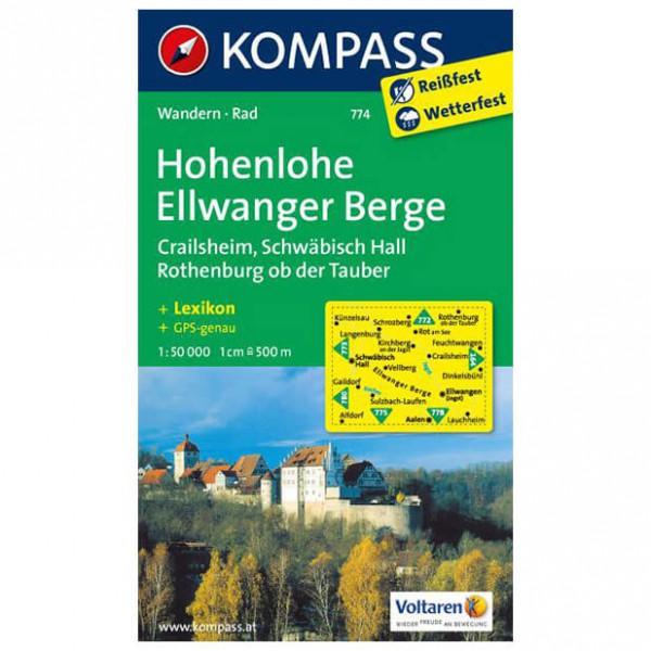 Kompass - Hohenlohe - Wanderkarte