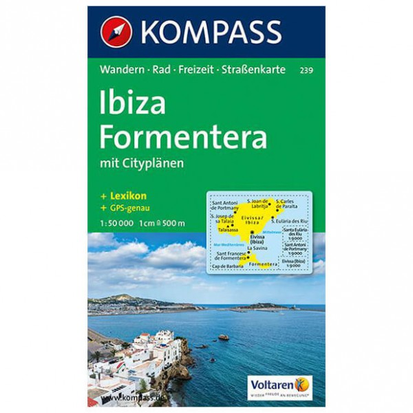 Kompass - Ibiza /Formentera - Cartes de randonnée