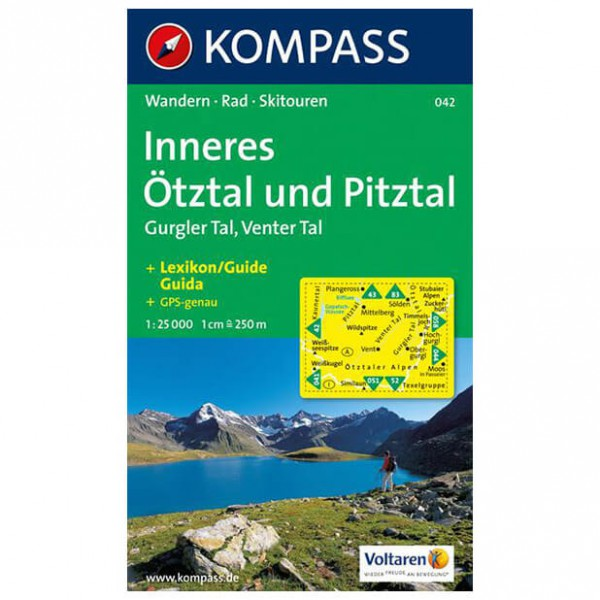 Kompass - Inneres Ötztal und Pitztal - Wandelkaarten