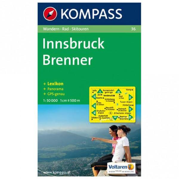 Kompass - Innsbruck - Mapa de senderos