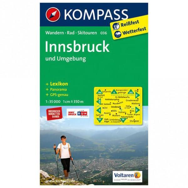 Kompass - Innsbruck und Umgebung - Wandelkaarten
