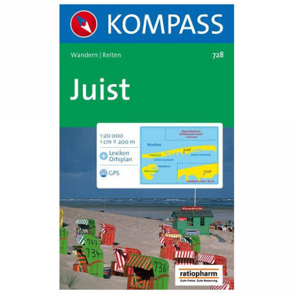Kompass - Insel Juist - Wandelkaarten