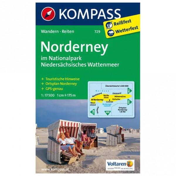 Kompass - Insel Norderney - Wanderkarte