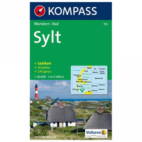 Kompass - Sylt mit Ortsplänen und Strassenverzeichnissen - Mapa de senderos