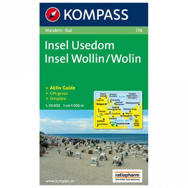 Kompass - Insel Usedom /Insel Wollin - Cartes de randonnée