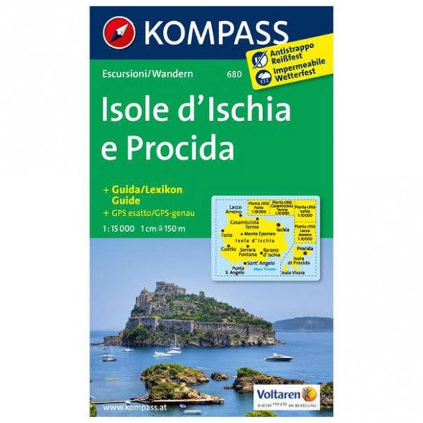 Kompass - Isole d' Ischia e Procida - Hiking Maps