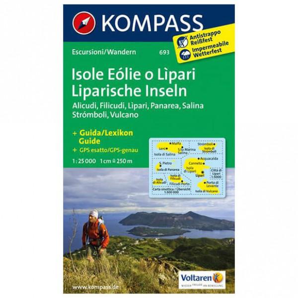 Kompass - Isole Eolie o Lipari - Wanderkarte