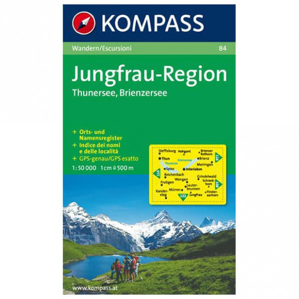Kompass - Jungfrau-Region - Wanderkarte