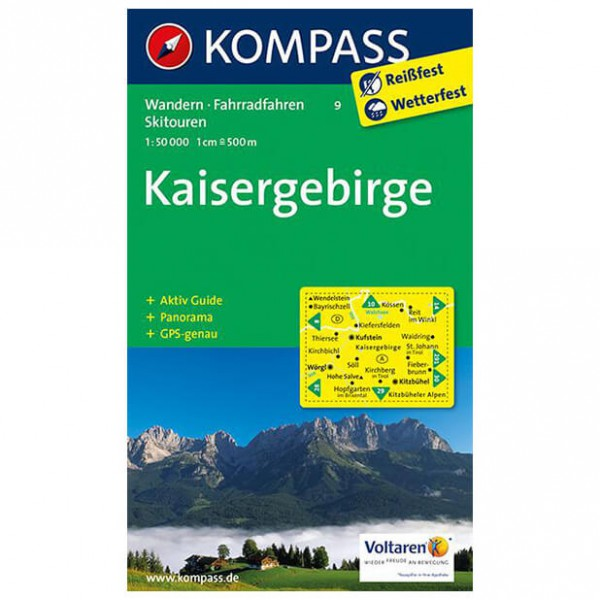 Kompass - Kaisergebirge - Vaelluskartat