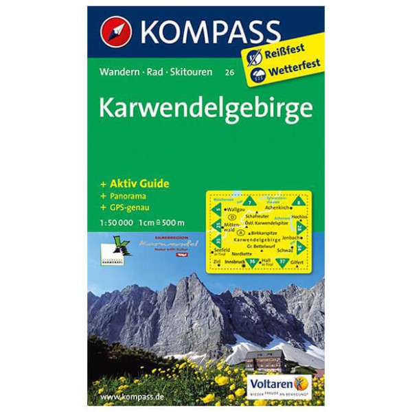 Kompass - Karwendelgebirge - Wanderkarte