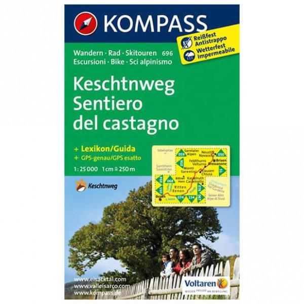 Kompass - Keschtnweg / Sentiero del castagno - Wanderkarte
