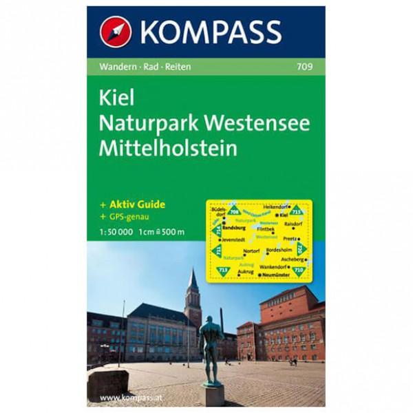 Kompass - Kiel - Naturpark Westensee - Vandrekort