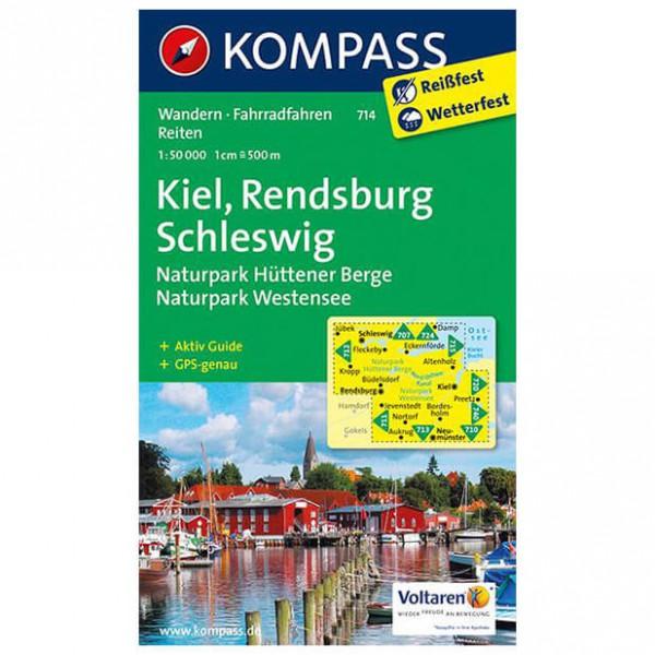 Kompass - Kiel - Rendsburg - Schleswig - Wanderkarte